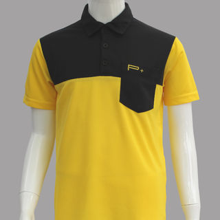 BOY POLO YELLOW/BLACK POCKET