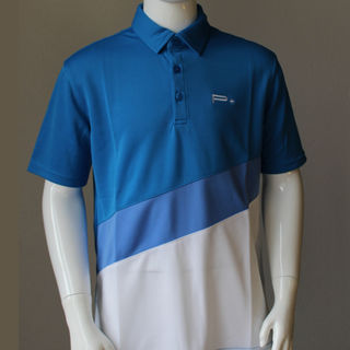 BOY POLO TRI COLOURS BLUE
